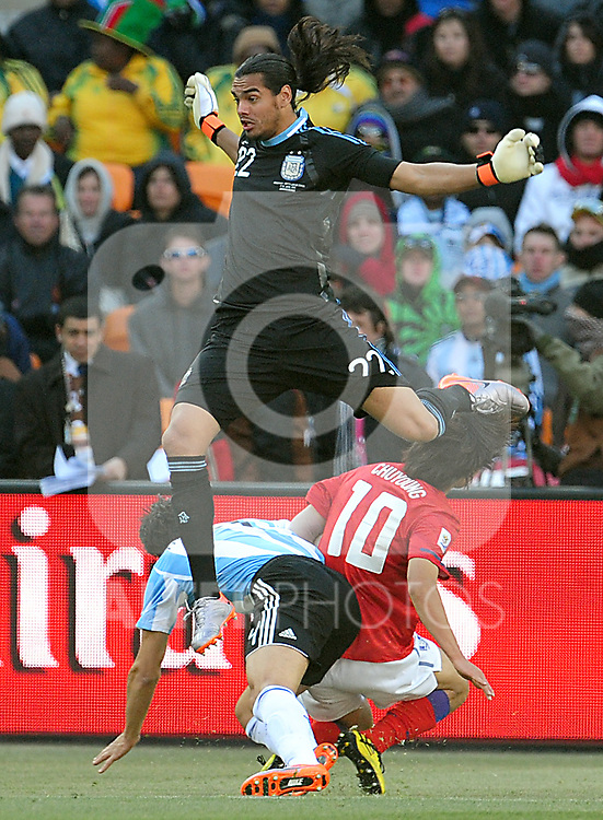 22 Sergio ROMERO during the 2010 World Cup Soccer match between Argentina vs Korea Republic played at Soccer City in Johannesburg, South Africa on 17 June 2010.  Photo: Gerhard Steenkamp/Cleva Media