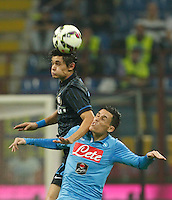 Dodo  Jose Callejon   during the Italian serie A   soccer match between SSC Napoli and Inter    at  the San Siro    stadium in Milan  Italy , Octobrr 19 , 2014