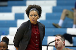 21 December 2013: High Point head coach DeUnna Hendrix. The University of North Carolina Tar Heels played the High Point University Panthers in an NCAA Division I women's basketball game at Carmichael Arena in Chapel Hill, North Carolina. UNC won the game 103-71.