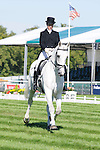 Carolyne Ryan-Bell riding Rathmoyle King during day 2 of the dressage phase at the 2012 Land Rover Burghley Horse Trials in Stamford, Lincolnshire,UK.