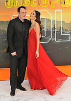 """LONDON, ENGLAND - JULY 30: Quentin Tarantino and Daniela Pick at the """"Once Upon A Time In ... Hollywood"""" UK film premiere, Odeon Luxe Leicester Square, Leicester Square, on Tuesday 30 July 2019 in London, England, UK.<br /> CAP/CAN<br /> ©CAN/Capital Pictures"""