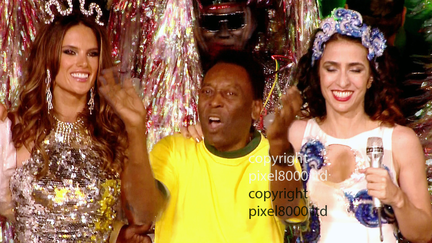 Olympics 2012 - BBC Coverage.Closing ceremony..Pele...Picture by Pixel8000 07917221968