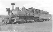 3/4 fireman's-side view of D&amp;RGW #360 in Gunnison yard.<br /> D&amp;RGW  Gunnison, CO  Taken by Maxwell, John W. - 9/11/1939