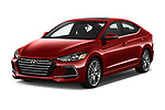 2017 Hyundai Elantra Sport 4 Door Sedan Angular Front stock photos of front three quarter view