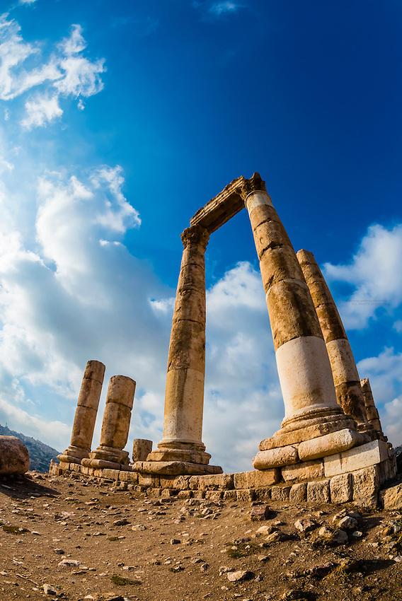 Temple of Hercules, archaeological ruins, Amman Citadel, Amman, Jordan