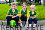 l-r Luke O'Sullivan, Kelly O'Sullivan and Hayleigh Callaghan at Kerry GAA family day at Fitzgerald Stadium  on Sunday