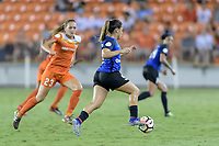 Houston, TX - Sunday August 13, 2017:  Lo'eau Labonta during a regular season National Women's Soccer League (NWSL) match between the Houston Dash and FC Kansas City at BBVA Compass Stadium.