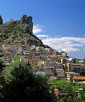 Italy, Sardinia, mountain villagae Osini: entrance to Grotta su Marmuri