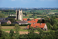Belgium, West Vlaanderen. Saint Peters Church in Loker. Village in Heuvelland area, scene of fierce WW1 battles