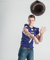 NWA Democrat-Gazette/ANTHONY REYES • @NWATONYR<br /> Taylor Powell, of Fayetteville, is the All-NWADG Offensive Player of the Year photographed Wednesday, Dec. 16, 2015 at the Northwest Arkansas Democrat-Gazette office in Springdale.