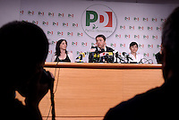 Roma, 6 Giugno 2016<br />  Valentina Paris, Matteo Renzi, Debora Serracchiani .<br /> Matteo Renzi in conferenza stampa al Nazareno sui risultati delle elezioni.<br /> Prime Minister Matteo Renzi gives a press conference day after the first round of the mayoral elections.