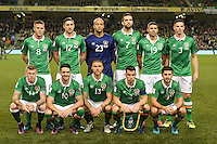 06/10/2016; 2018 FIFA World Cup Qualifier Republic of Ireland vs Georgia; Aviva Stadium, Dublin<br /> The Ireland Team.<br /> Photo Credit: actionshots.ie/Tommy Grealy