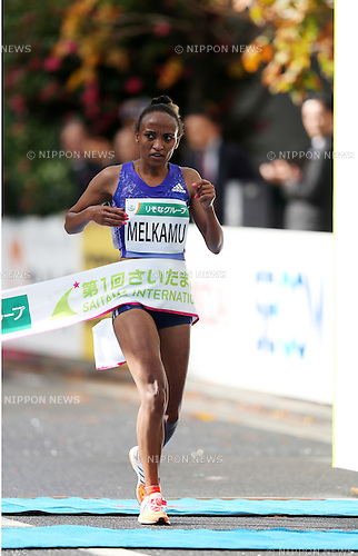 Melkamu Meselech (ETH),<br /> NOVEMBER 15, 2015 - Marathon : 1st Saitama International Marathon in Saitama, Japan. (Photo by Jun Tsukida/AFLO SPORT)