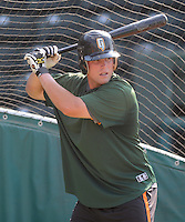 June 5, 2008: Catcher Jackson Williams (35) of the Augusta GreenJackets, Class A affiliate of the San Francisco Giants, prior to a game against the Greenville Drive at Fluor Field at the West End in Greenville, S.C. Photo by:  Tom Priddy/Four Seam Images