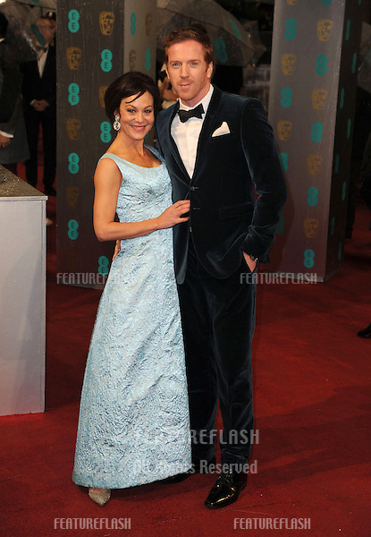 Damien Lewis and Helen McRory arriving for the 2013 British Academy Film Awards, at the Royal Opera House, London. 10/02/2013 Picture by: Alexandra Glen / Featureflash