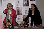 27.09.2012. The American writer Donna Leon and the Italian singer Cecilia Bartoli presented the book 'The jewels of paradise' of Donna Leon and the album 'Mission' of Cecilia Bartoli in the Hotel AC Retiro in Madrid, Spain. In the image (L-R) Donna Leon and Cecilia Bartoli  (Alterphotos/Marta Gonzalez)