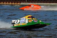 Amanda Hagerl (#4) & Gary Barber (#20) SST-45 class.Bay City River Roar, Bay City,Michigan USA.26-2821 June, 2009..©F. Peirce Williams 2009 USA.F.Peirce Williams.photography.ref: RAW (.NEF) File Available