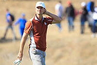 Justin Rose (Team Europe) on the 10th during Saturday Foursomes at the Ryder Cup, Le Golf National, Ile-de-France, France. 29/09/2018.<br /> Picture Thos Caffrey / Golffile.ie<br /> <br /> All photo usage must carry mandatory copyright credit (© Golffile | Thos Caffrey)