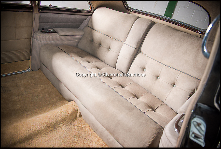 BNPS.co.uk (01202 558833)<br /> Pic: SilverstoneAuctions/BNPS<br /> <br /> ***Please Use Full Byline***<br /> <br /> The original back seats inside the cadillac once owned by former Argentine president Juan Peron and his wife Eva. <br /> <br /> A luxury Cadillac limousine once owned by Eva Peron and her husband Juan, the former president of Argentina, has emerged for sale for 260,000 pounds.<br /> <br /> The jet black motor was used to drive Peron, known by the affectionate nickname Evita, and her husband around capital city Buenos Aires on state duties.<br /> <br /> The left-hand drive 1951 Cadillac boasts a 5.4-litre, eight cylinder engine and has a black leather bench seat in the front and a beige cloth seat in the back.<br /> <br /> Incredibly the 63-year-old car has just 3,489 miles on the clock.<br /> <br /> The car is expected to fetch 260,000 pounds when it goes under the hammer on behalf of its owner in a Silverstone Auctions sale on September 4.<br /> <br /> Also included in the sale is a jewel found inside the car when it arrived in the UK from Argentina. It is thought to have come from one of Evita's dresses.