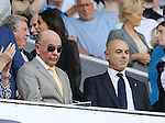 Tottenham's owner Joe Louis looks on with chairman Daniel Levy during the Barclays Premier League match at the White Hart Lane Stadium.  Photo credit should read: David Klein/Sportimage
