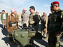 Iraq 2014 <br />   Sirwan Barzani, Peshmerga officer in charge of the 6th branch , Mahmur district, with a new weapon, the Milan, anti-guided missile <br /> Irak 2014 <br /> Sirwan Barzani, officier de peshmergas, responsable de la 6eme branche du front de Mahmur avec une nouvelle arme, le Milan, missile leger anti-char