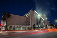 Museum and library of the University of Sonora. UNISON Rosales Boulevard of Hermposillo, Sonora Mexico. car lights, city lights, night city, architecture, building<br /> ....(Photo: Luis Gutierrez/NortePhoto)..<br /> Museo y biblioteca de la Universidad de Sonora. UNISON. Bulevar rosales de Hermposillo, Sonora Mexico. luces de autos, luces de la ciudad, ciduad de noche, arquitectrua, edificio.