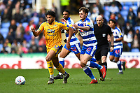 Reece James of Wigan Athletic gets  away from John Swift of Reading during Reading vs Wigan Athletic, Sky Bet EFL Championship Football at the Madejski Stadium on 9th March 2019