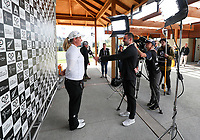 George Harper Jnr interviews Brittney Lincicome. McKayson NZ Women's Golf Open, Round Three, Windross Farm Golf Course, Manukau, Auckland, New Zealand, Saturday 30 September 2017.  Photo: Simon Watts/www.bwmedia.co.nz
