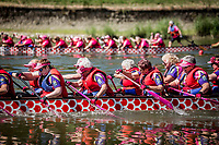 De svenske kvinder var oppe i mod to australske og to amerikanske hold og vandt i tiden 2:38,12 foran nummer to i 2:42,62. Today is raceday number two.  IBCPC Dragon Boat Festival i Firenze er en dragebådsfestival for brystkraftramte kvinder. Copenhagen Dragonboat Team deltager med godt 20 kvinder i alderen fra 25 til 62.<br /> <br /> Foto: Jens Panduro<br /> <br /> The IBCPC Dragon Boat Festival is held every four years under the auspices of the International Breast Cancer Paddler's Commission. The Festival is an international non-competitive participatory event targeting Breast Cancer Survivors teams who engage in Dragon Boat activities as post-operative rehabilitation. Born from the idea of a Canadian sports medicine physician, Doctor Don McKenzie about twenty years ago, Dragon Boat paddling has become a rehabilitation therapy for tens of thousands of men and women worldwide, who have undergone surgery.<br /> For the first time since its institution in 2005, the IBCPC FESTIVAL will be held in Europe – in Italy!! The Florence 2018 Festival will involve 129 teams from 17 countries , and for the very first time ALL the continents are represented.<br /> Organised and promoted by FIRENZE IN ROSA Onlus as the official Organising Committee, the Florence Festival will be a sporting event but above all a social occasion in which Florence will welcome from 4,000 to 5,000 people from all over the world. The participants are mainly women between the ages of 20 and 80, who will meet to take part in the exciting Dragon Boat races, paddling together on the Arno. They will also be accompanied by their friends and family, their faithful and enthusiastic supporters.