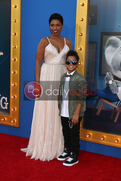 "Jennifer Hudson, David Daniel Otunga Jr.<br /> at the ""Sing"" Premiere, Microsoft Theater, Los Angeles, CA 12-03-16<br /> David Edwards/DailyCeleb.com 818-249-4998"