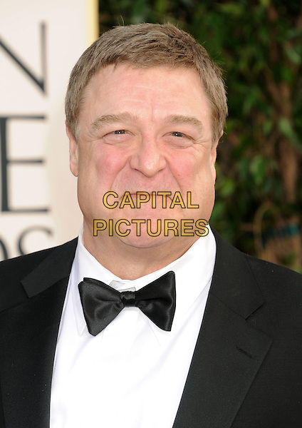 John Goodman.Arrivals at the 70th Annual Golden Globe Awards held at the Beverly Hilton Hotel, Hollywood, California, USA..January 13th, 2013.globes headshot portrait black white shirt bow tie tuxedo .CAP/GAG.©GAG/Capital Pictures