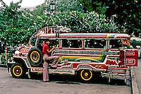 Philippines: Manila--Jeepney in profile. Photo '82.
