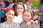 Mia Patterson, Eliza Browne and Georgia Browne at the Kids Fancy Dress Easter Fun Run in Tralee Town Park on Saturday