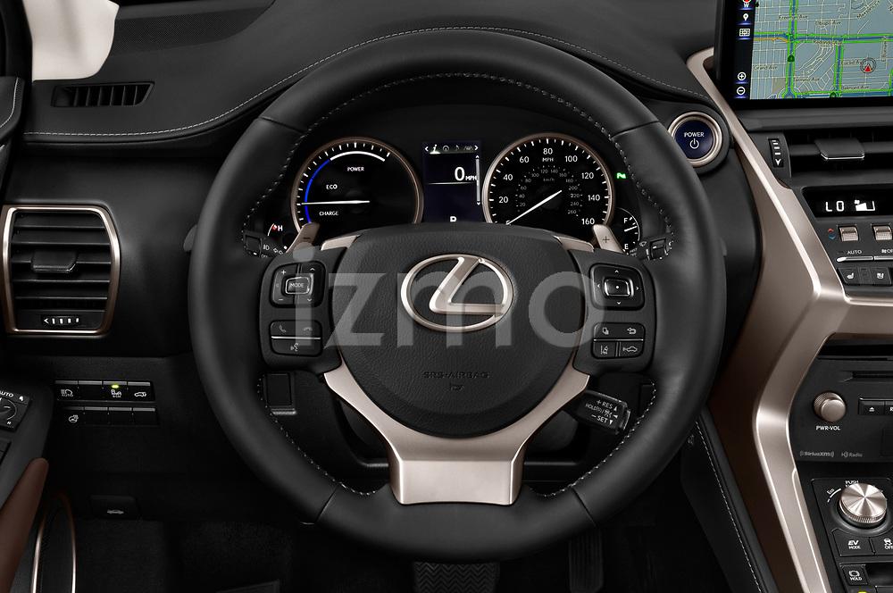 Car pictures of steering wheel view of a 2019 Lexus NX 300h 5 Door SUV Steering Wheel