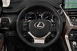 Car pictures of steering wheel view of a 2019 Lexus NX 300h 5 Door SUV Steering Wheel