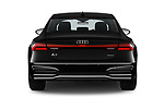 Straight rear view of a 2019 Audi A7 Prestige 5 Door Hatchback stock images