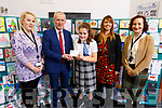Jon Asky Arino (Castleisland Comm Coll) received the second prize at the ETB Christmas Card competition at the ETB offices in Centrepoint, Tralee on Monday. L-r, Catherine Lyons (Kerry ETB), Colm McEnvoy (Kerry ETB), Kiara O'Callaghan, Marian Sugrue (Art Teacher) and Ann Dwyer (Kerry ETB)