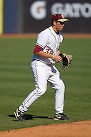Shortstop Stephen Cardullo #38 of the Florida State Seminoles on defense versus the Boston College Eagles at Durham Bulls Athletic Park May 20, 2009 in Durham, North Carolina. (Photo by Brian Westerholt / Four Seam Images)