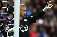 Leicester City goalkeeper Kasper Schmeichel during the Barclays Premier League match between Leicester City and Swansea City played at The King Power Stadium, Leicester on 24th April 2016