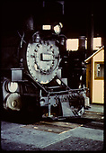 D&amp;RGW #498 K-37 in engine house at Alamosa.<br /> D&amp;RGW  Alamosa, CO  10/1/1967