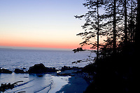 Fourth Beach, at Kalaloch is one of several signed and short trails to wild and wolly beaches of Olympic National Park in the Kalaloch area.  Olympic National Park. Olympic Peninsula