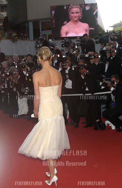 Actress CAMERON DIAZ at the official gala screening for her new movie Shrek 2 at the Cannes Film Festival where the movie is in competition..May 15, 2004