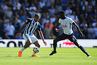 West Bromwich Albion's Jose Salomon Rondon vies for possession with Tottenham Hotspur's Davinson Sanchez<br /> <br /> Photographer Ashley Crowden/CameraSport<br /> <br /> The Premier League - West Bromwich Albion v Tottenham Hotspur - Saturday 5th May 2018 - The Hawthorns - West Bromwich<br /> <br /> World Copyright &copy; 2018 CameraSport. All rights reserved. 43 Linden Ave. Countesthorpe. Leicester. England. LE8 5PG - Tel: +44 (0) 116 277 4147 - admin@camerasport.com - www.camerasport.com