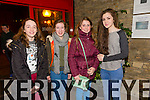 Rebecca Conway, Niamh Ryan, Clodagh O'Sullivan, Anna Murnal at the opening night of the Mercy Mounthawk students' performance of 'The Plough And The Stars' at Siamsa Tíre on Thursday.