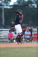 Yamil Nieves Alicea (17) of Puerto Rico Baseball Academy in Puerto Rico during the Under Armour Baseball Factory National Showcase, Florida, presented by Baseball Factory on June 13, 2018 the Joe DiMaggio Sports Complex in Clearwater, Florida.  (Nathan Ray/Four Seam Images)