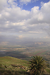 Israel, Lower Galilee, a view of the Jordan Valley from Crusader fortress Belvoir