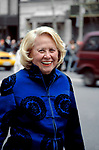 Liz Smith attends the Wedding of Liza Minelli and David Gest on 3/16/2002 at Marble Collgiate CHurch, NYC.