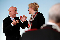 Minister of Internal Affairs Marco Minniti and Minister of Defense Roberta Pinotti<br /> Roma 26/01/2018. Conferenza stampa sul rinnovo dei contratti per il comparto sicurezza e difesa.<br /> Rome January 26th 2018. Press conference on after the renewal of security and defense contracts.<br /> Foto Samantha Zucchi Insidefoto