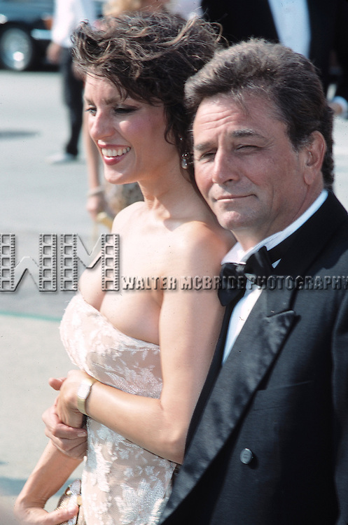 Peter Falk & Shera Denise attending the 1988 Emmy Awards in Los Angeles.