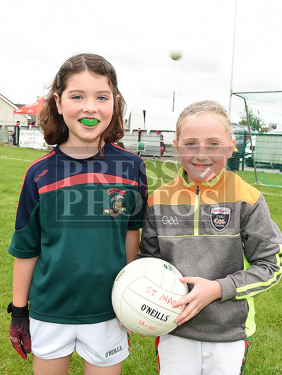 Cora kerr and Aoife Faulkner at the Oliver Plunketts Family Fun Day. Photo:Colin Bell/pressphotos.ie